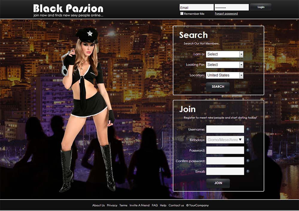 black passion hot splash page